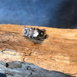 White Topaz and Sterling silver Ring